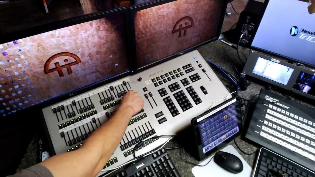 TWiT's new Element ETC lighting console - YouTube