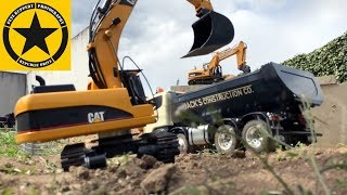 BRUDER Toy TRUCKS & RC EXCAVATORS Tunnel Project 3.0 CRACK in Tunnel VERY BAD!