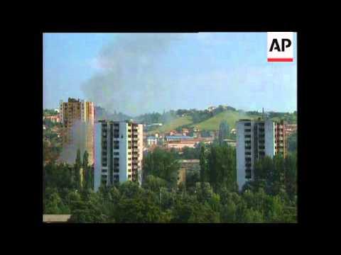Bosnia - More Bombardment Around Sarajevo