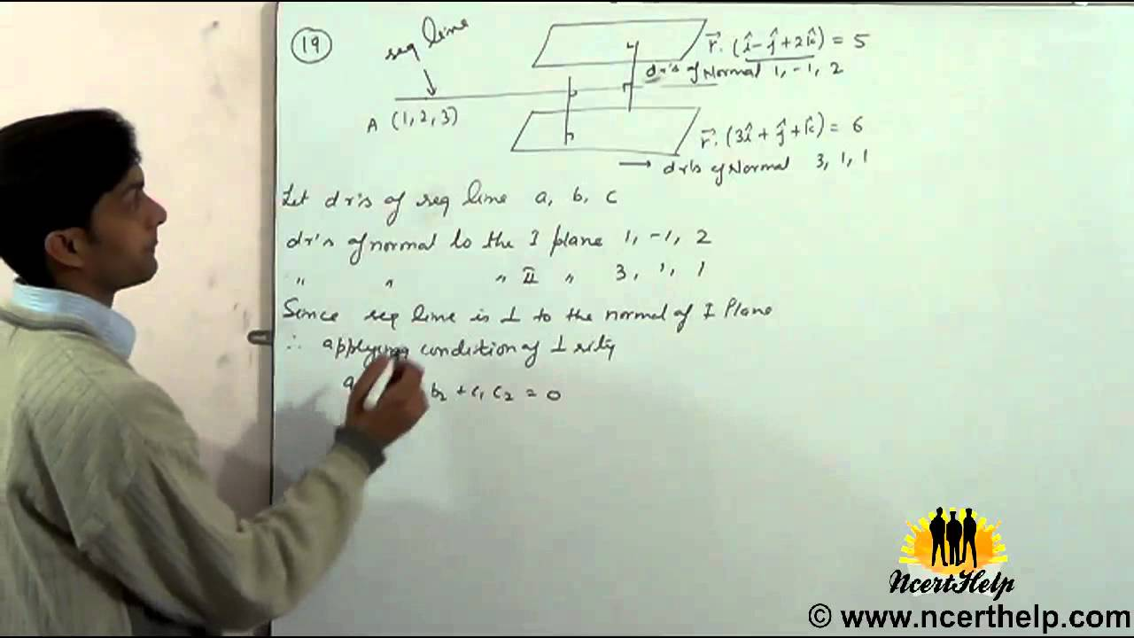 parallel planes equations. find the vector equation of line passing through and parallel to planes - youtube equations