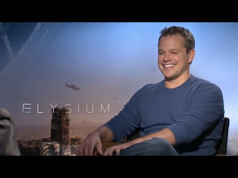 ELYSIUM Interviews: Matt Damon and Sharlto Copley
