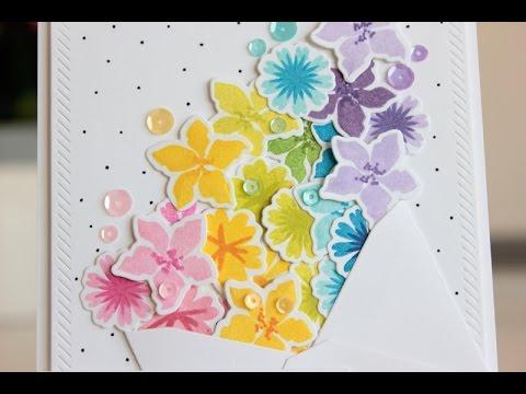 Rainbow Of Flowers A Birthday Card Youtube