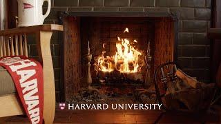 4K Harvard Yule Log Fireplace 🔥 1 HOUR+