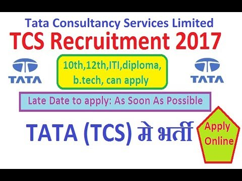 How to Apply for Tata Consultancy Services Limited (TCS) Recruitment 2017 Notification