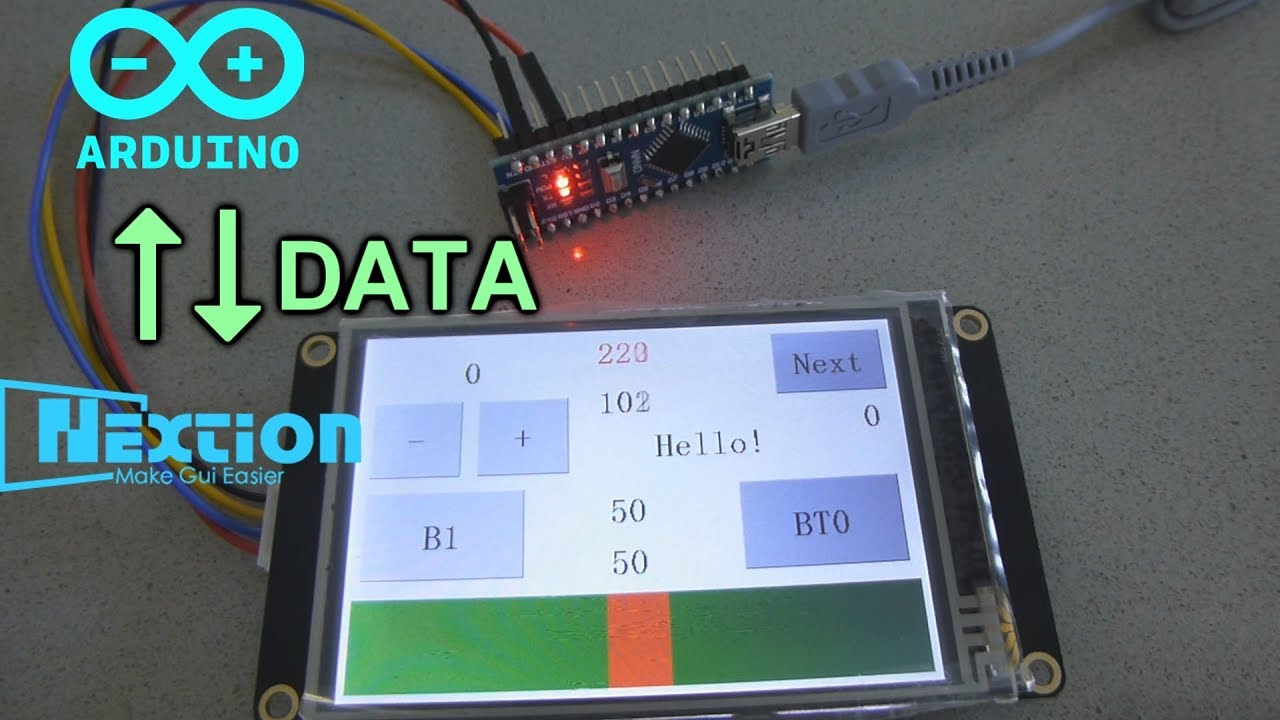 Nextion+Arduino Tutorial #2 Sending Data To Arduino