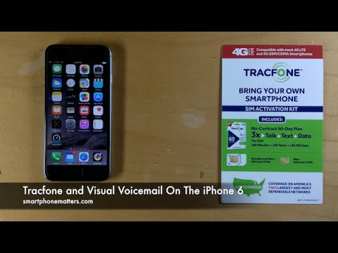 Tracfone And Visual Voicemail On The Iphone 6 Youtube