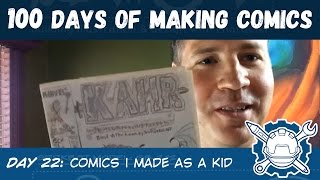 100 Days of Making Comics Day 22: Comics I made as a kid
