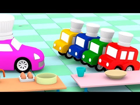 4 Машинки учатся готовить! Мультики про машинки для детей