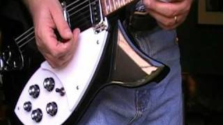 Rickenbacker 330 Jetglo Overview - Review - Demo with a Fender Blues Junior Amp