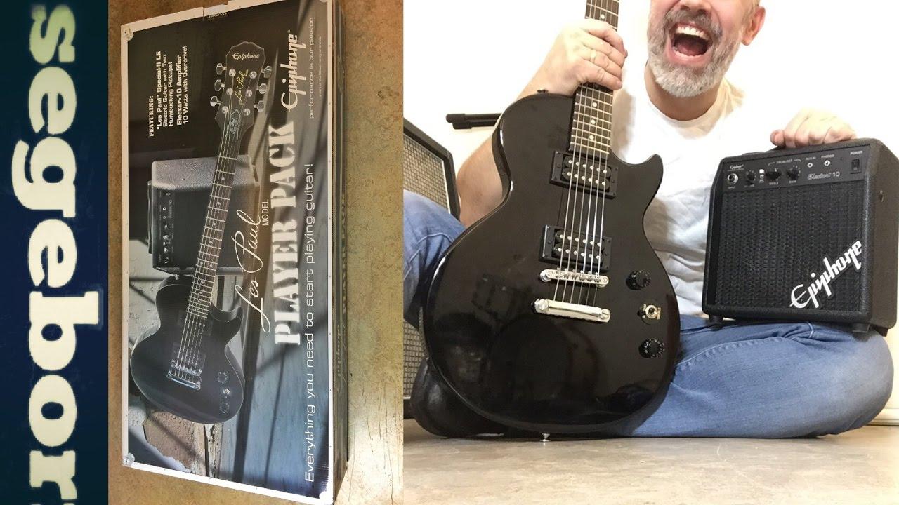 Epiphone Les Paul Electric Guitar Player Pack Review 2019