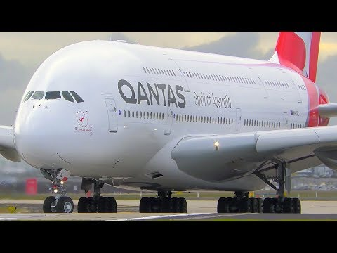 INCREDIBLE Airbus A380 CLOSE UP Takeoff & Landing | Qantas | Melbourne Airport Plane Spotting