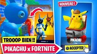 """PIKACHU x FORTNITE et SKIN """"GEMINI"""" DIRECTEMENT dans FORTNITE !!"""