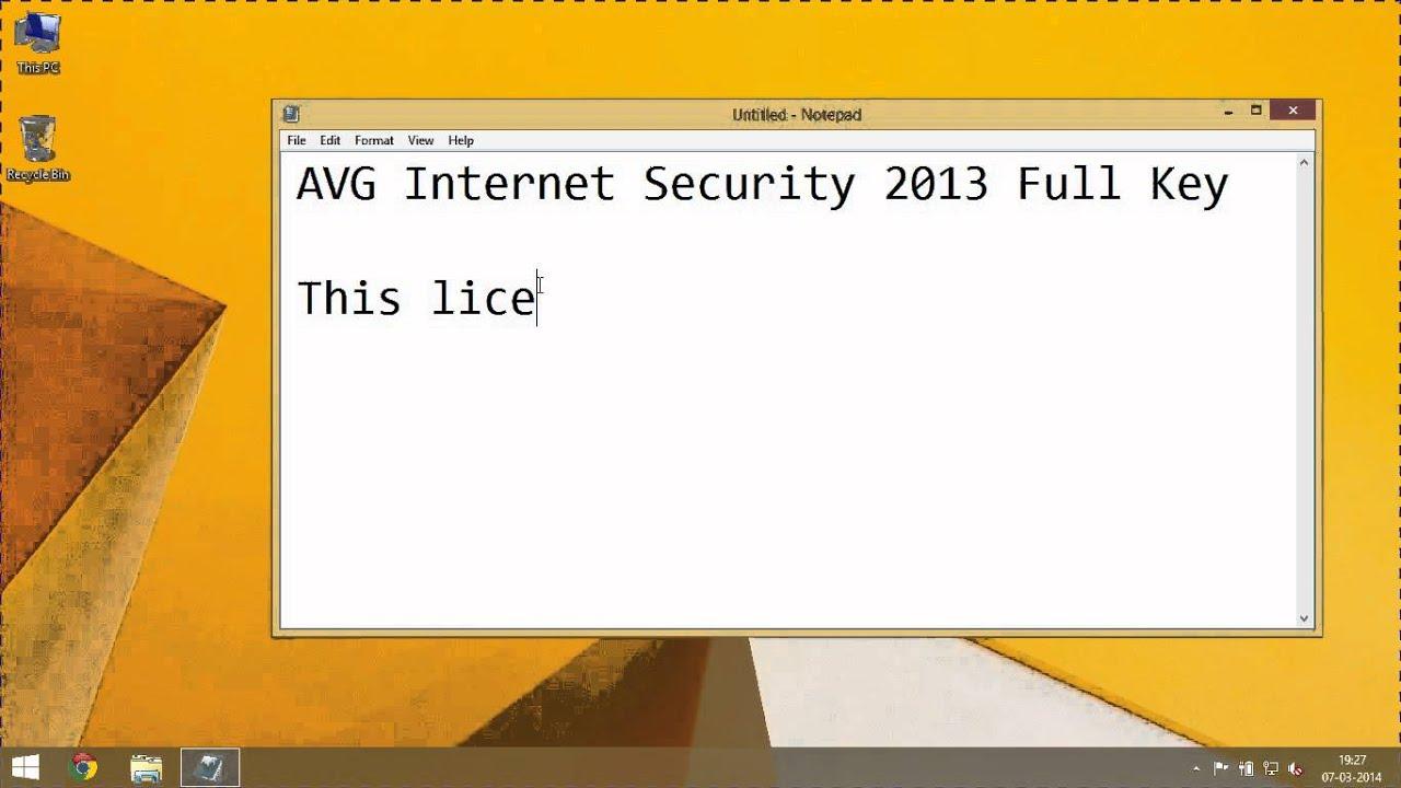 avg internet security 2013 serial key until 2020
