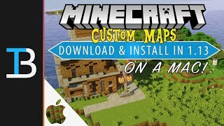 How to Download & Install Custom Maps in Minecraft 1.13 on a Mac Video