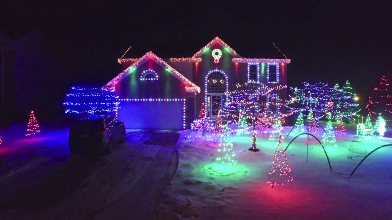 Christmas Lights Drone Video - Best Houses Northeast Ohio ...