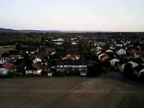 Flug mit Drohne: Stutensee-Büchenau, Schwarzwald,  syma x5sw on board cam, Luftbilder, Luftaufnahme