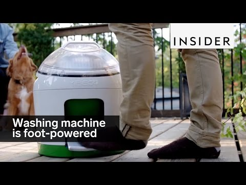 This foot-powered washing machine saves water and energy