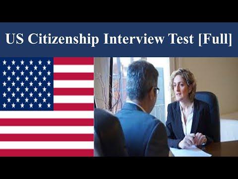 US Citizenship Interview Test [Full]