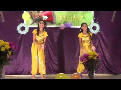 Cham Cham and Kala Chasma dance by Amariah and Ashna-Hemel Hempstead malayali  Xmas Celebration