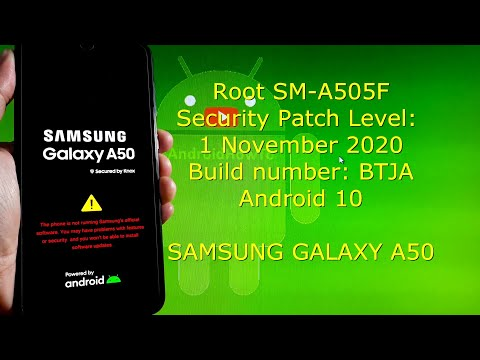 Root Samsung Galaxy SM-A505F BTJA Build number / 1 November 2020 Update