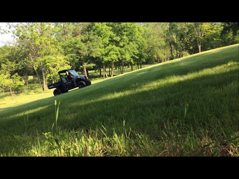 2013 Polaris Brutus HD Hill Climb Test Low & High Gear Speed Review