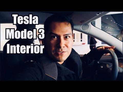 Tesla Model 3 Interior: Stanford Shopping Center/Palo Alto