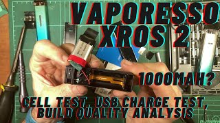 Vaporesso XROS 2 - Destrขctive Disassembly, Build Quality Analysis, Cell & USB Charge testing