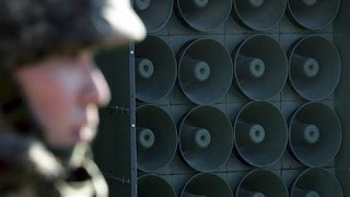 Video South Responds to North Korea With Loudspeakers download MP3, 3GP, MP4, WEBM, AVI, FLV November 2017
