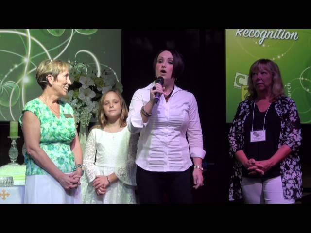 Hannah Auer Baptism, Membership Recognition, DJ Mulqueen, Jennifer Auer, Hannah Auer