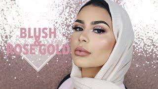 GIVEAWAY & EID MAKEUP #2 : Blush & Rose Gold Hues | Habiba Da Silva