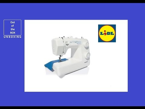 SilverCrest Sewing Machine SNM 33 B1 UNBOXING (Lidl 33 stitch functions)