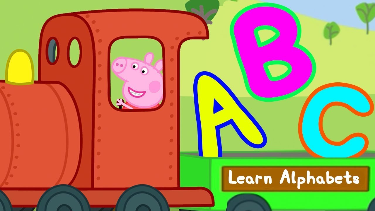 Peppa Pig Learn Alphabets With Peppa Pig Abc For Kids Learn With Peppa Pig Youtube