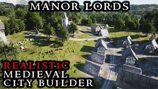 Manor Lords - PREVIEW Gameplay || NEW Medieval RTS City Builder Realistic