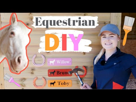 Equestrian DIY! | Barrel Jumps + Painting Horse Shoes | This Esme