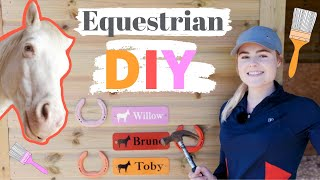 Equestrian DIY! | Barrel Jumps + Painting Horse Shoes AD | This Esme