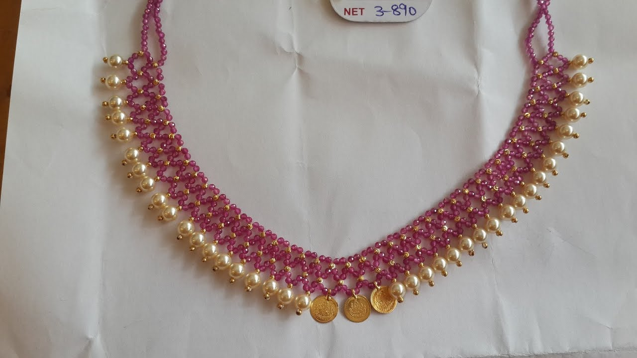 11bedf682abdd7 Latest Light Weight Beads Necklace Designs - YouTube