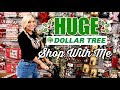 HUGE DOLLAR TREE SHOP WITH ME | NEW CHRISTMAS FINDS & MORE