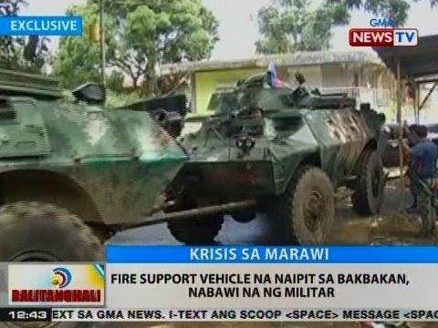 BT: Fire support vehicle na naipit sa bakbakan, nabawi na ng militar