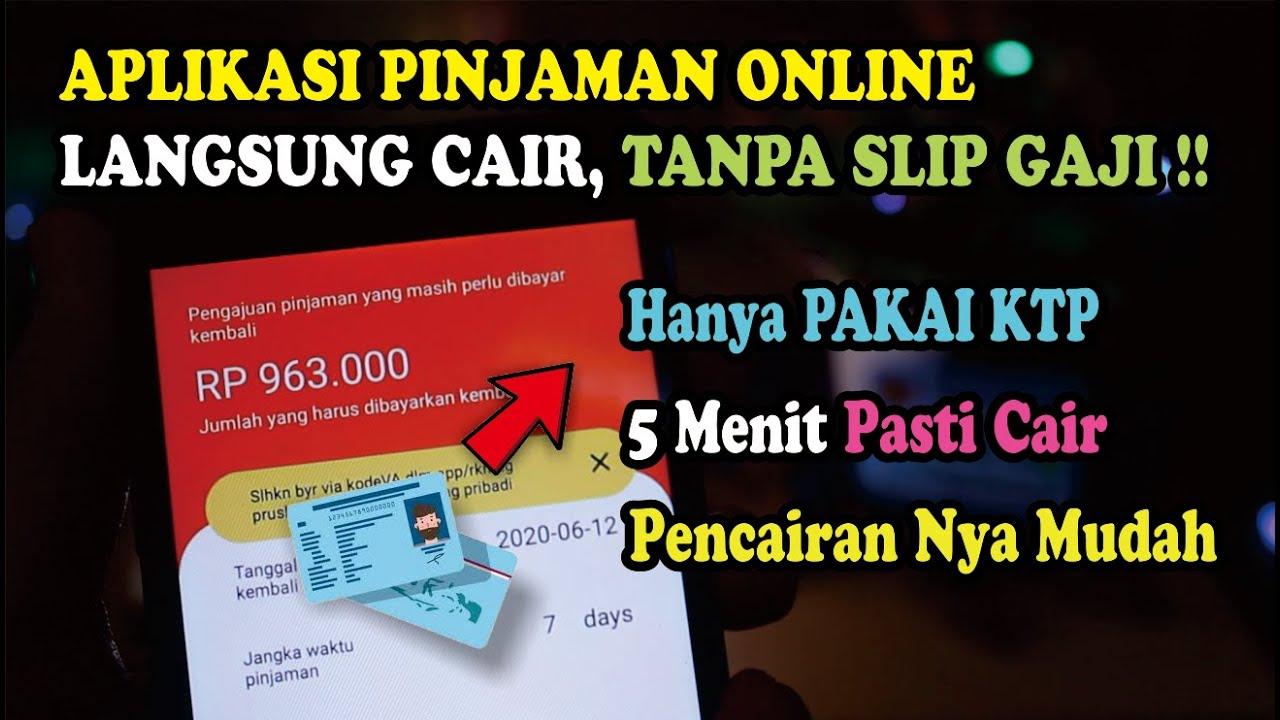 3 Aplikasi Pinjaman Online Langsung Cair Hanya Gunakan Ktp
