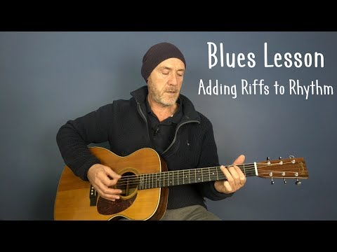 Blues guitar lesson: Playing rhythm & lead together - Guitar lesson by Joe Murphy