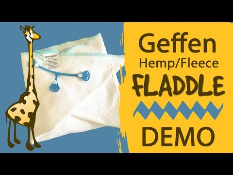 Geffen Fladdle Demo and Flats Folding Techniques - #Clothdiapers