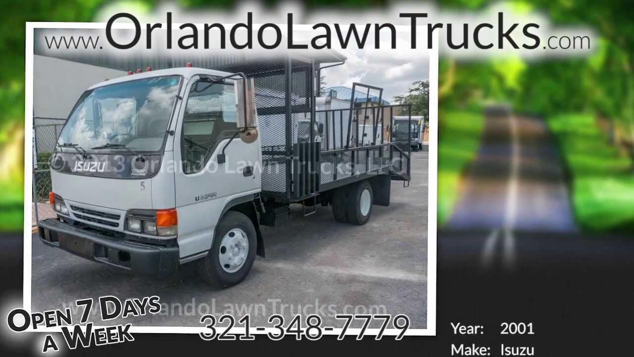 Ford Truck Beds Sale 2001 Isuzu NPR Used Lawn Truck for Sale in Florida! - YouTube