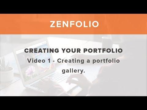 Creating your portfolio on Zenfolio - Video 1 creating a portfolio gallery