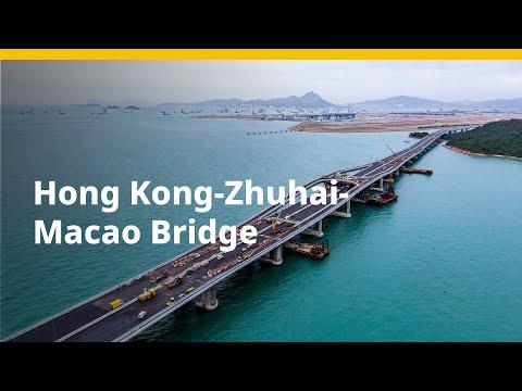 Foundation works for Hong Kong-Zhuhai-Macao bridge