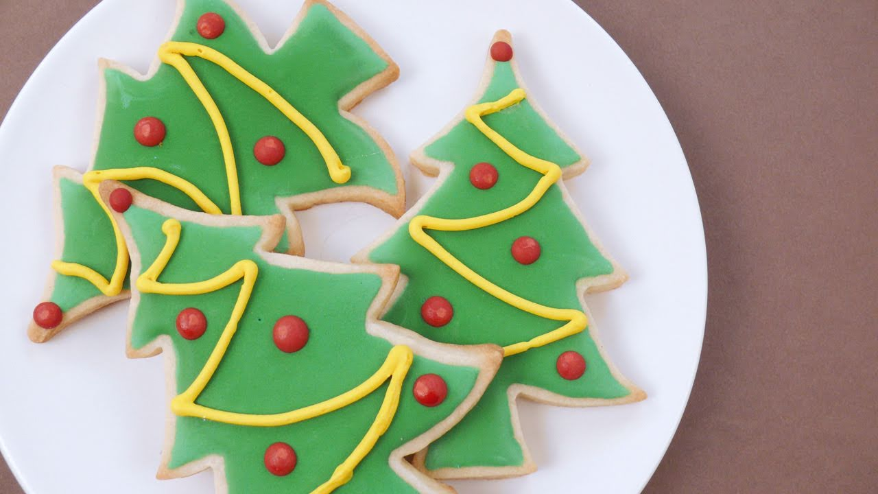 how to decorate christmas sugar cookies youtube - Decorated Christmas Sugar Cookies