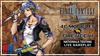 4 Color Moogles vs Fire/Ice VI - FFTCG Nationals Testing Live Gameplay