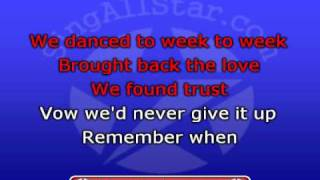 """Remember When"" in the style of Alan Jackson presented by All Star Karaoke"