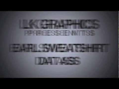 Earl Sweatshirt Kinetic Typography | LK Graphics (Lyric Video)