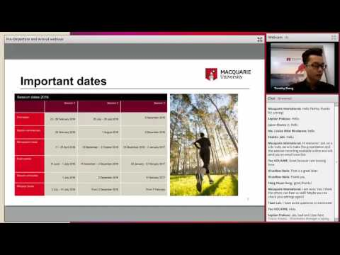 Pre-Departure and Arrival webinar for international students