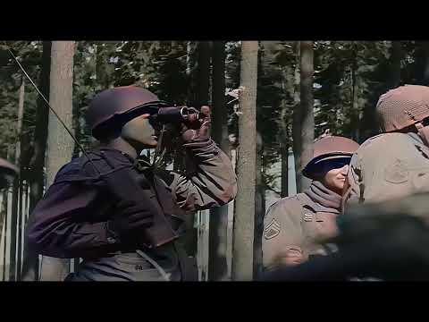 A day in Germany 1945 during World War II in color [60fps, Remastered] w/added sound
